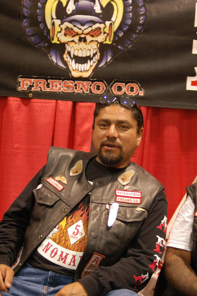 Hells angel a hells angel at a tattoo convention in for Hells angels tattoos pics