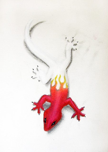 Red Gecko Tattoo (concept) | I do a lot of tattoo concept ...