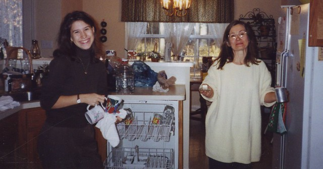 My mom & me Christmas 2000