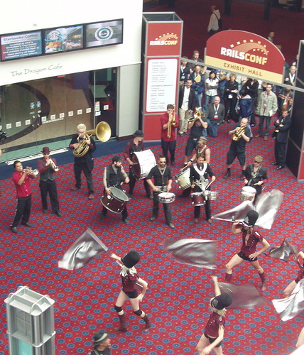 Extra Action Marching Band at RailsConf | by suzipaw