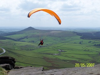 Glider off Shining tor with Shutlingslow in the bg | by Ricmiester General 18