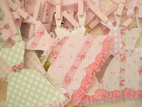 Pile of Paper Dresses | by Natasha Burns