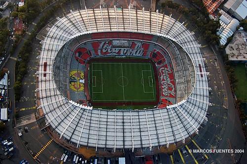 Estadio azteca aerea estadio azteca que despues fue for Puerta 1 estadio azteca