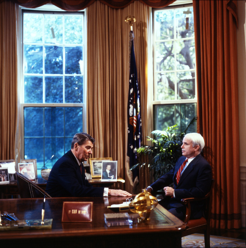 Carol Mccain: No Known Restrictions: President Reagan And Senator McCain