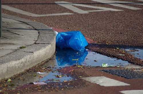 Rubbish in blue (bag) | by Steve Punter