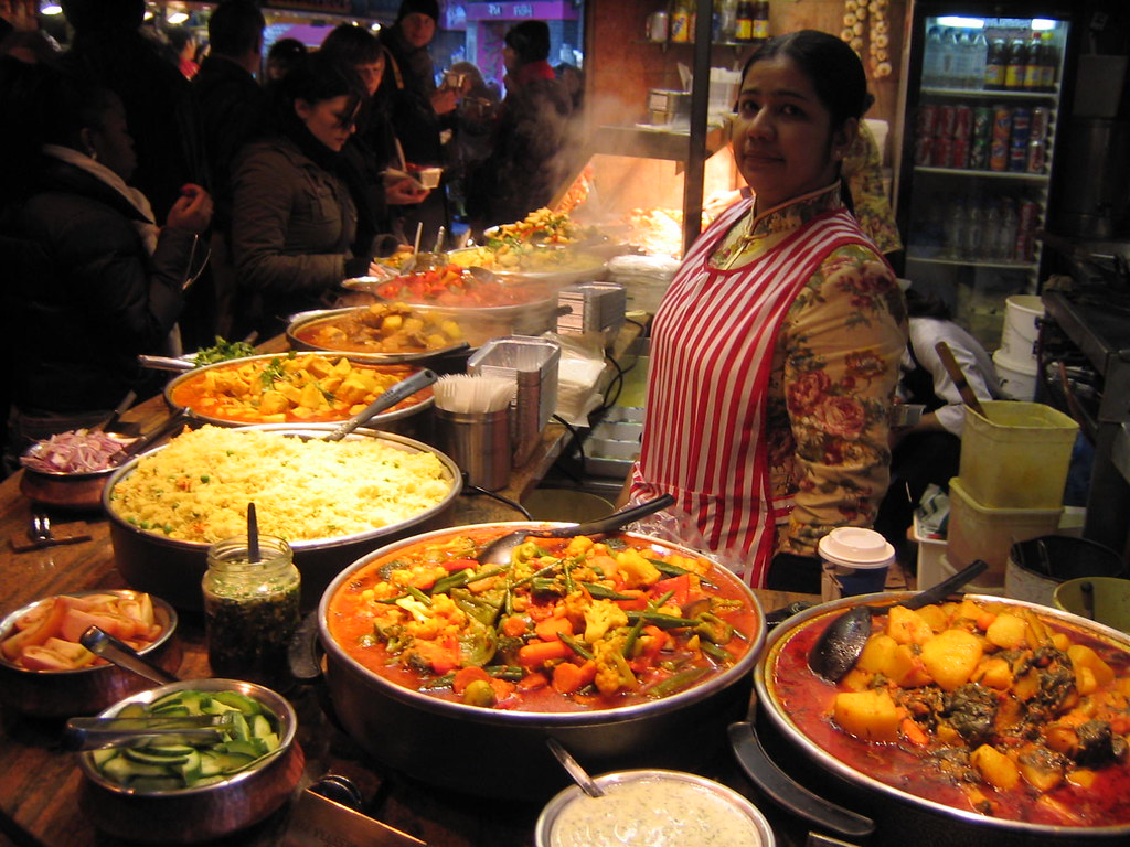 Indian food camden market london larizzo1111 flickr Cuisines of india