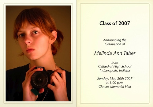Melinda's Graduation Announcement May 2007 | by mark.taber