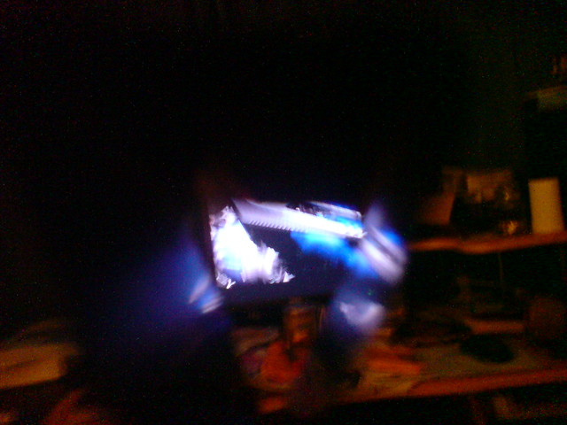 Babylon 5 (as seen on my PC through a large triangular bulldog clip
