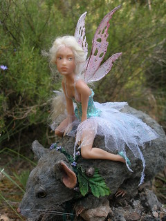 #41 Elaine ~ Fairy riding forest mouse | by Nenúfar Blanco