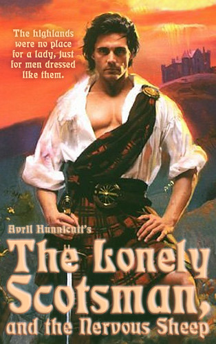 Romance Book Cover Quote : The lonely scotsman and nervous sheep drawing