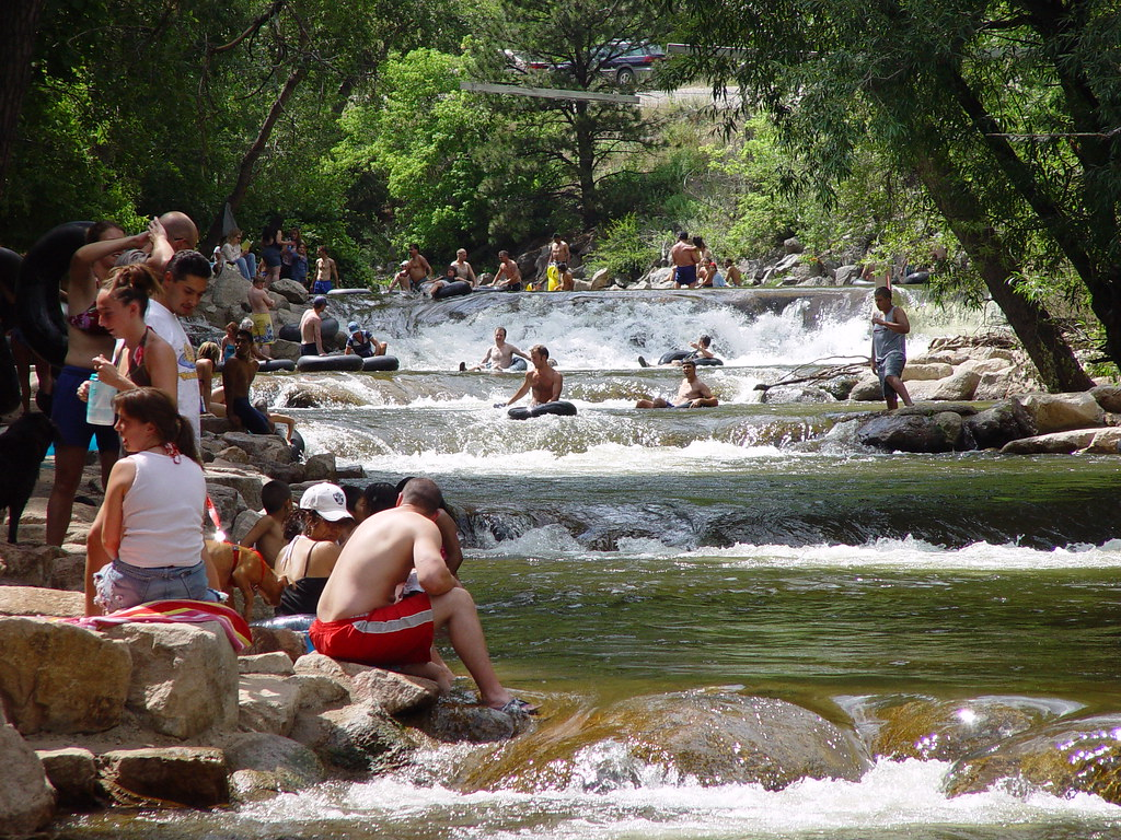 Tubing Rivers In Boulder Creek Colorado