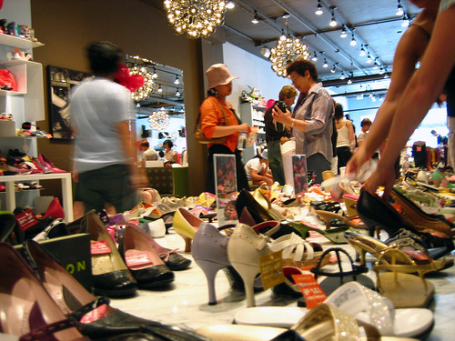 Shoe shopping frenzy. | by hfabulous
