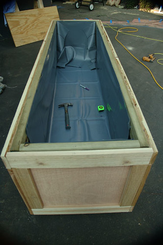 Planter Box With Lining Each Planter Box Was Framed With