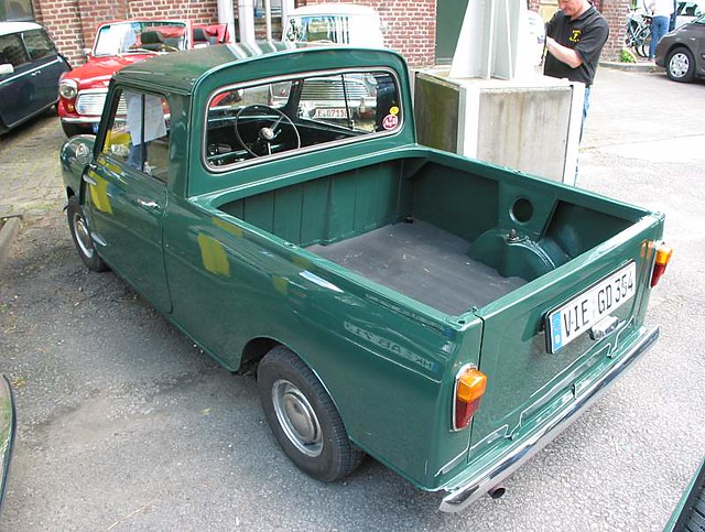 Morris Mini pickup - rear view | Morris Mini pickup - rear v ...