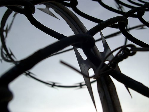 barbed wire, red hook | by Tchotchkes