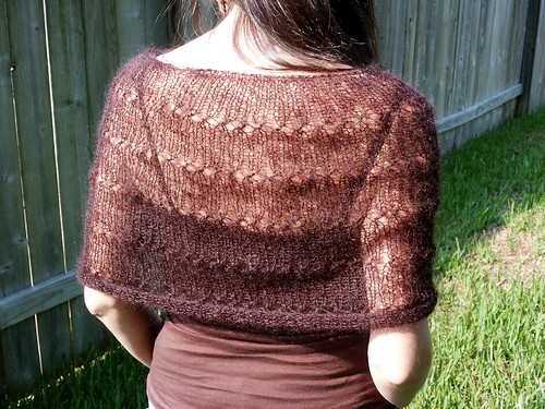 Lace Capelet | by Twisted Knitter