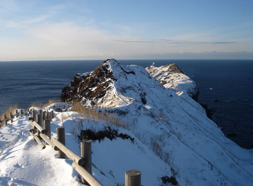 Winter View of Cape Kamui  January on the Shakotan ...