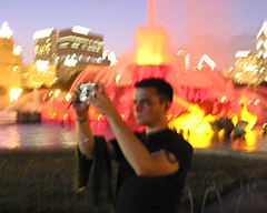 Chris Near Buckingham Fountain, Lollapalooza, 2005 | by panopticon