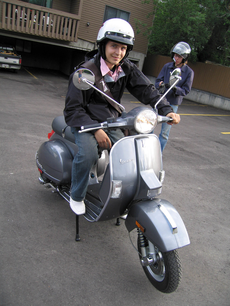 michael 39 s new vespa px 150 boy michael as dubbed by. Black Bedroom Furniture Sets. Home Design Ideas