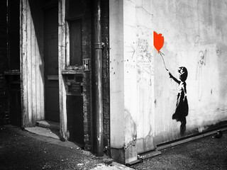 Banksy: balloon girl. Vestry Street | by Stew Dean