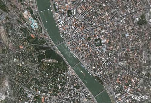 Budapest Hungary Satellite Image Satellite Image Of