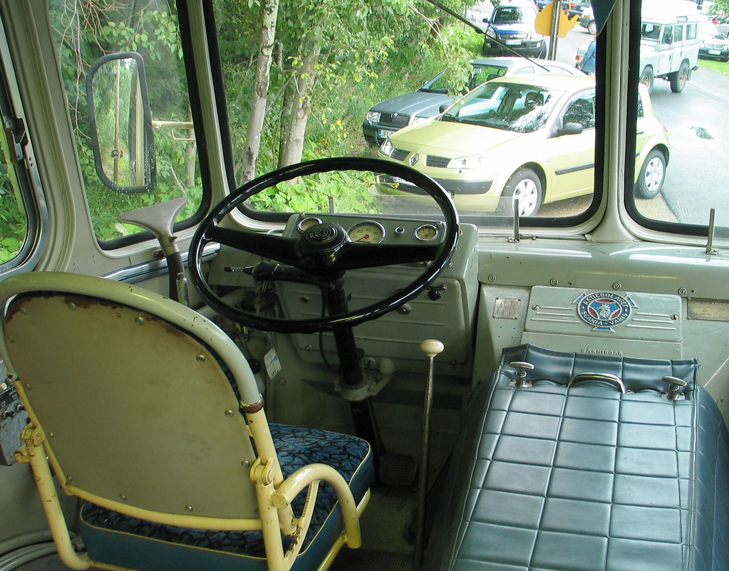 Interior Of A Vintage Bus Driver S Seat From An Old