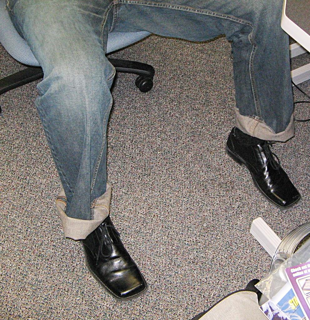 Square Toe Whie Leather Puma Shoes