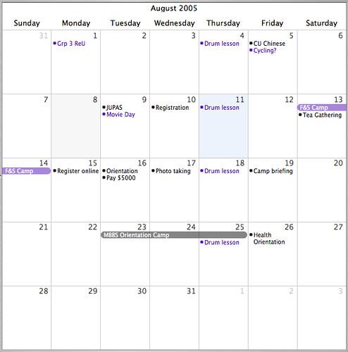 Busy, busy, busy | My calendar for August, thus far - help! | Denise ...