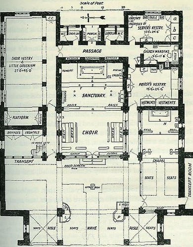 Plan For A Modern Chancel And Chapel 1913 By Vivian H