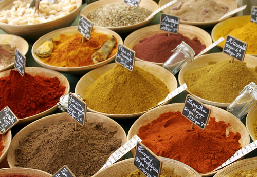 colourful spices in a french market | by GavinBell