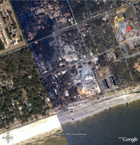 """Official"" NOLA Flood Image Overlay from Google/NOAA 