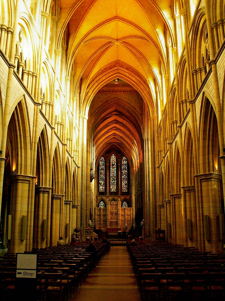 Truro Cathedral Z11747 Interior Of Truro Cathedral From