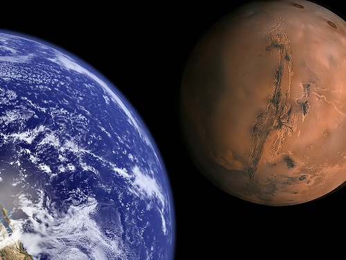 Earth and Mars to scale. | by Bluedharma