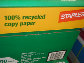 Staples Recycled Paper | by Neubie