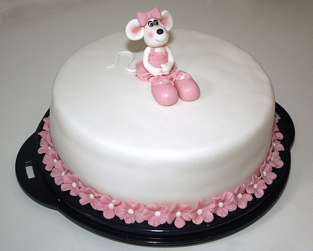 Images Of Cake For Niece : Ballerina mouse cake A birthday cake made for my niece ...