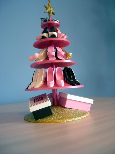 Christmas Tree Made From Barbie Shoes By Mattel This Was