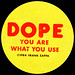Zappa - Dope You Are What You Use sticker - 1984