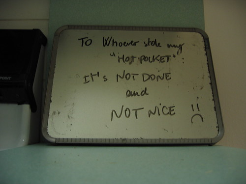 "And by ""hot pocket"" I mean... 