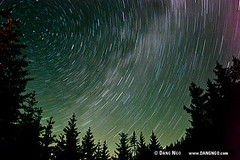 Star trails streak across the night sky over the forests of the Zane Grey Roadless Area in the Medford Bureau of Land Management (BLM) District in southwest Oregon. | by photongo
