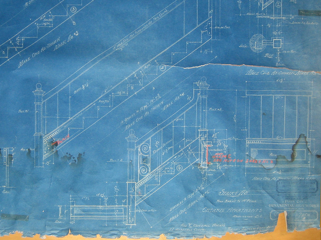 Original Blueprints For The Ontario Stairs Detail Flickr