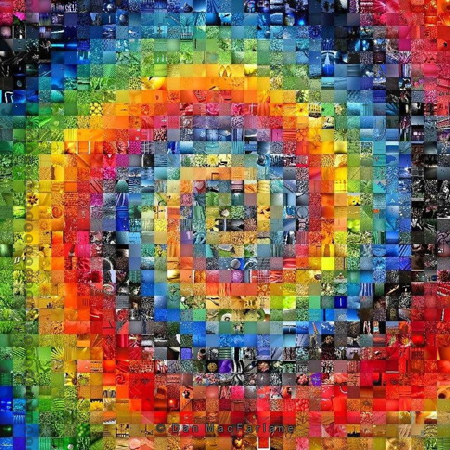 Tie Dye Color Mosaic 35 X 35 1225 Photos Best Viewed