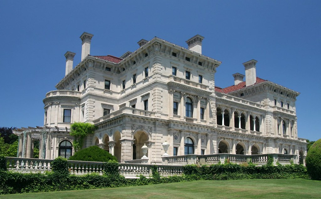 Cliffs ocean view side at the breakers vanderbilt mansion for Cheapest 2 story house to build