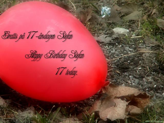 grattis på 17 årsdagen Grattis på 17 årsdagen Stefan! | Happy Birthday Stefan he wi… | Flickr grattis på 17 årsdagen