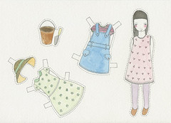 "paperdoll set - ""In the Garden"" 