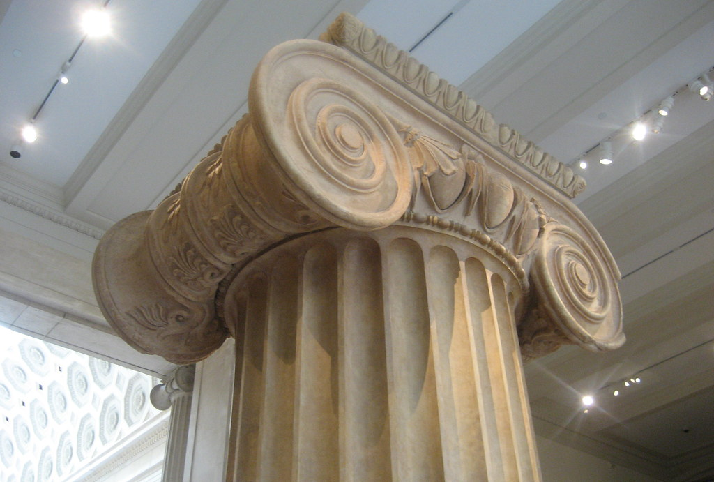 Nyc Metropolitan Museum Of Art Marble Column From The
