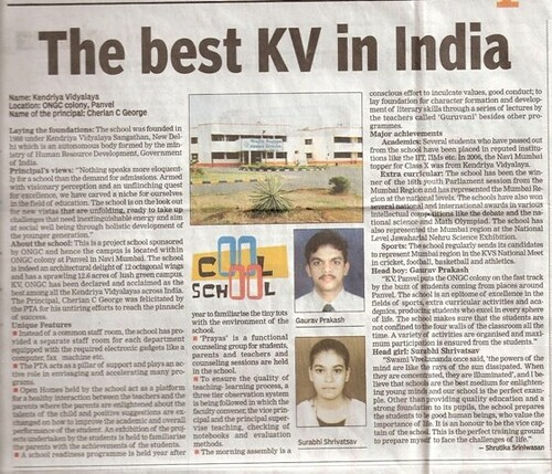 kendriya vidyalaya the best among schools Going to schools is the birth right of every child and the fact is being repeatedly reiterated by many government, non-government and private organisations.