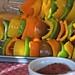 skewers of peppers