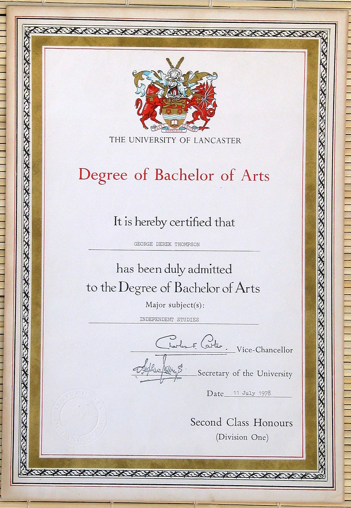 Degree Certificate | I only got a lousy 2/1 Degree, and this… | Flickr