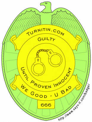 turnitin badge | by Barry D