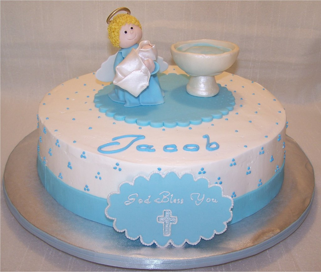 Baptism Cake for a Baby Boy Beth Flickr